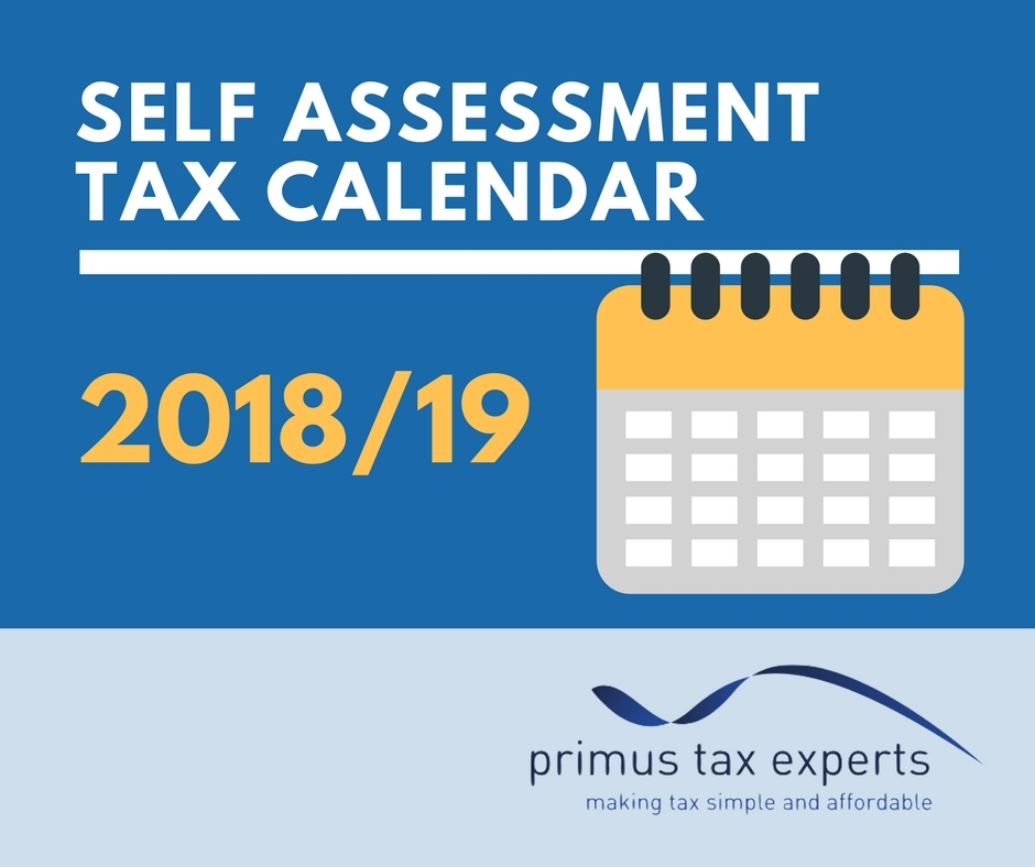 Free Self Assessment Tax Calendar 201819 Primus Tax