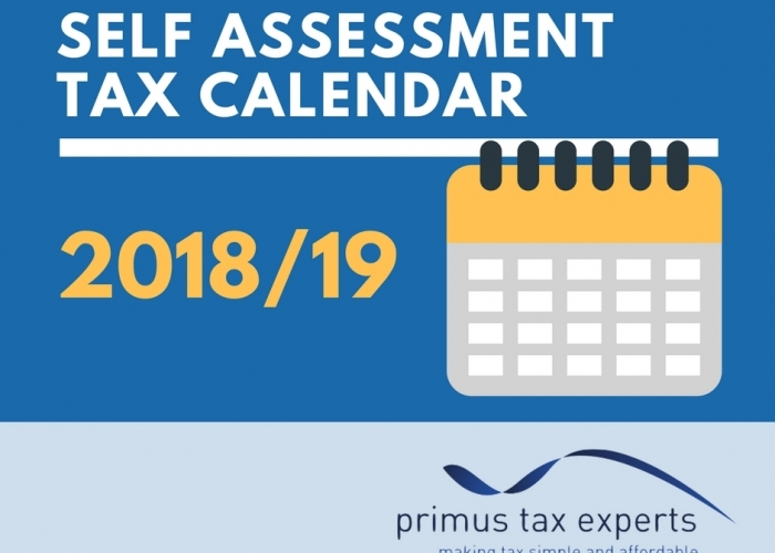 Free Self Assessment Tax Calendar 201819 Primus Tax