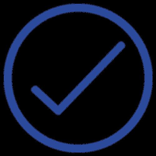 Tick Icon Blue